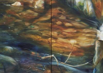 Two Panel River Scene