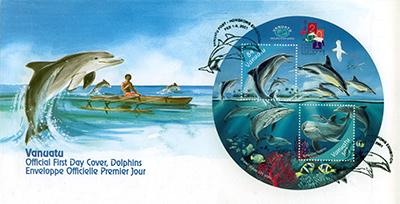 Vanuatu Dolphin Stamp